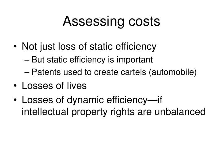 Assessing costs