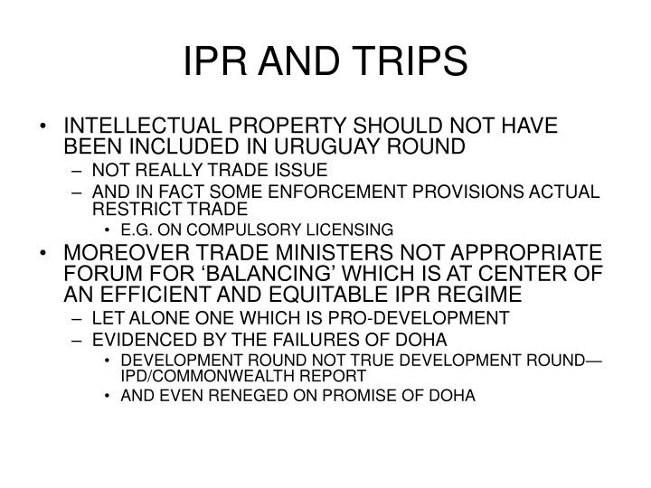 IPR AND TRIPS