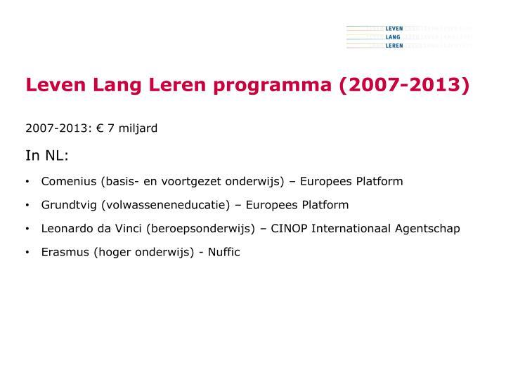 Leven Lang Leren programma (2007-2013)