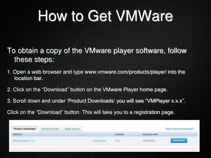 How to Get VMWare