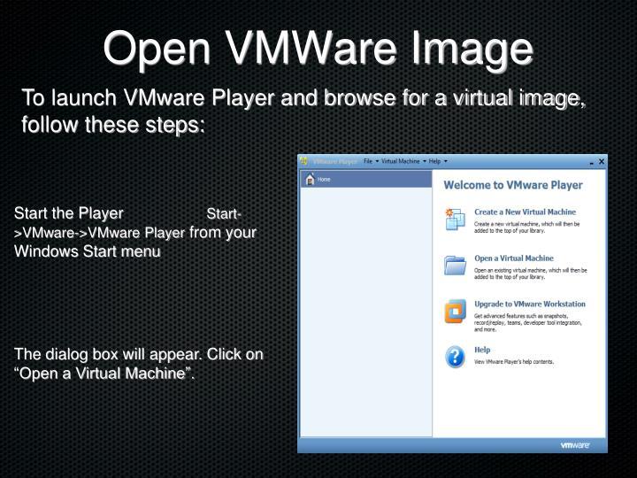 Open VMWare Image