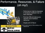 performance resources failure oh my