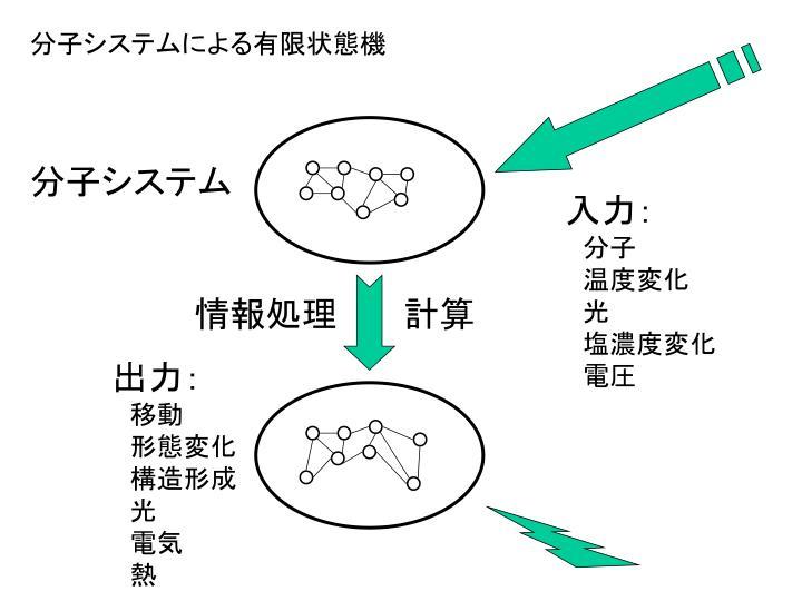 分子システムによる有限状態機