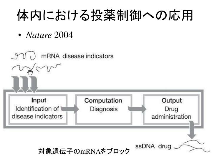 体内における投薬制御への応用