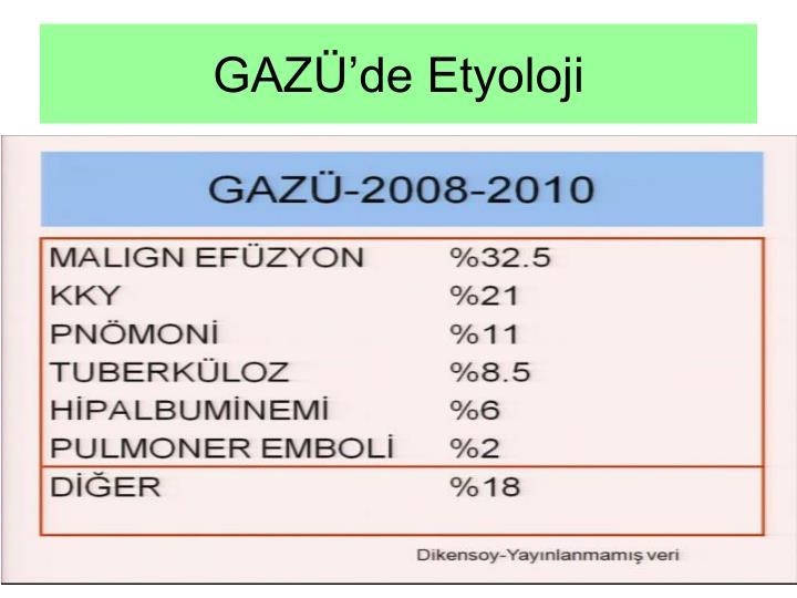 GAZÜ'de Etyoloji