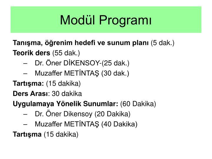 Modül Programı