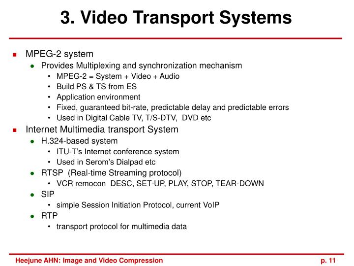 3. Video Transport Systems