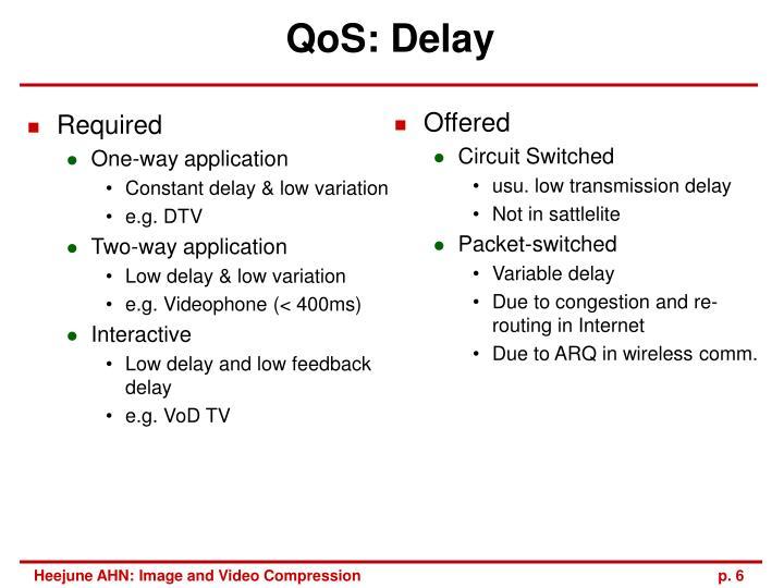 QoS: Delay