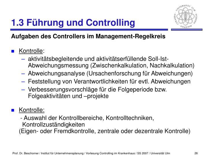 1.3 Führung und Controlling