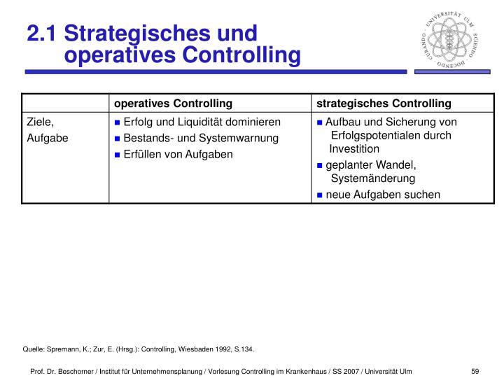 2.1 Strategisches und