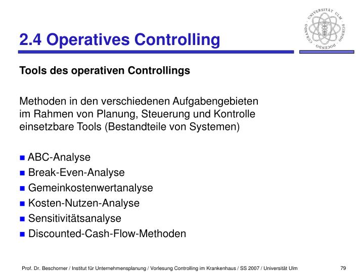 2.4 Operatives Controlling