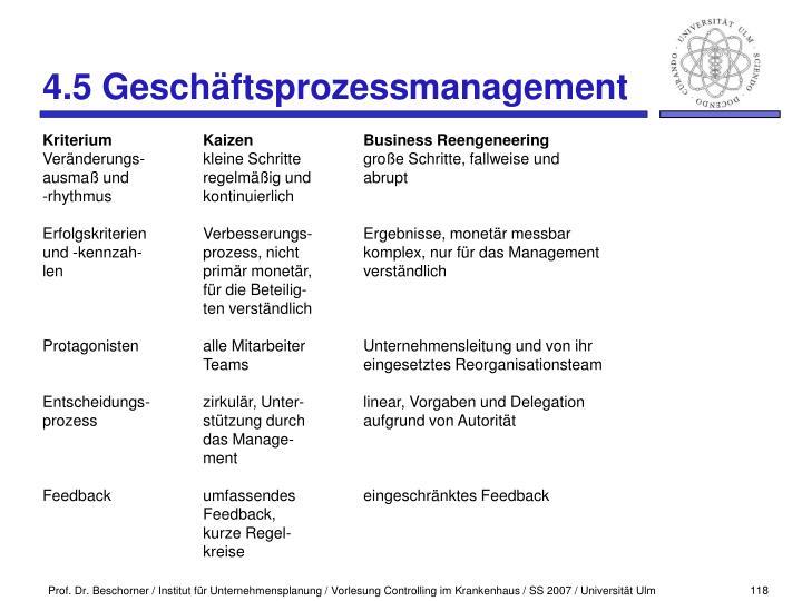 4.5 Geschäftsprozessmanagement
