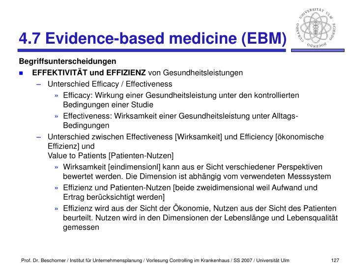 4.7 Evidence-based medicine (EBM)