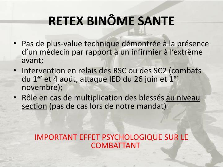RETEX BINÔME SANTE