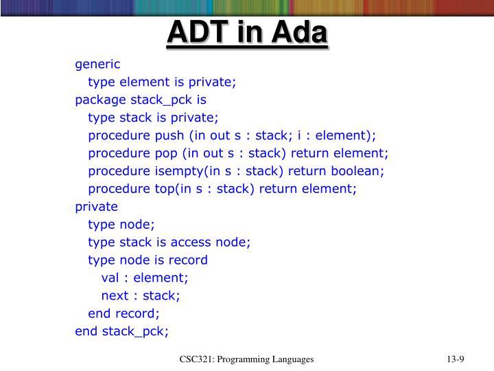 ADT in Ada