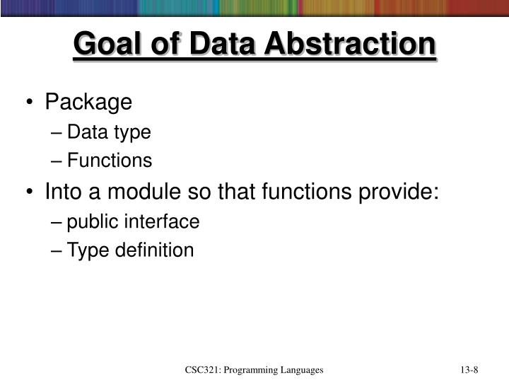 Goal of Data Abstraction