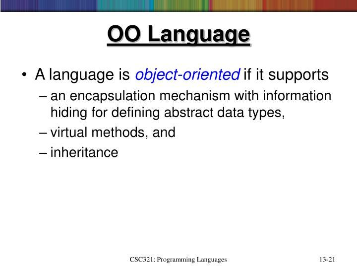OO Language