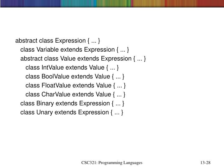 abstract class Expression { ... }