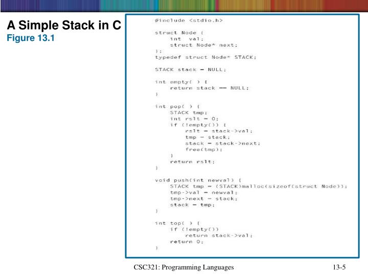 A Simple Stack in C
