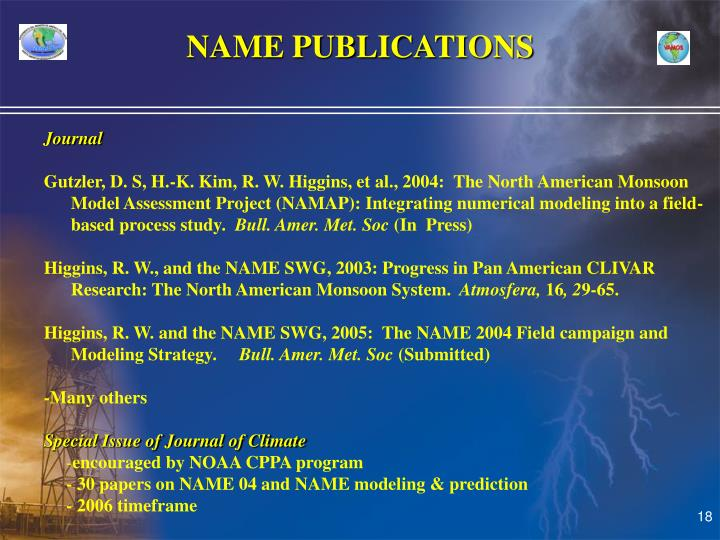 NAME PUBLICATIONS