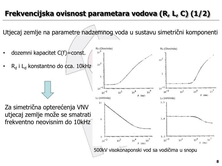 Frekvencijska ovisnost parametara vodova (R, L, C)