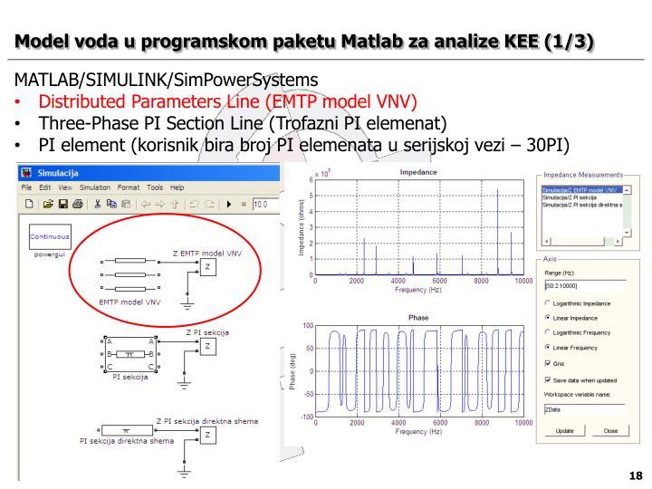 Model voda u programskom paketu Matlab za analize