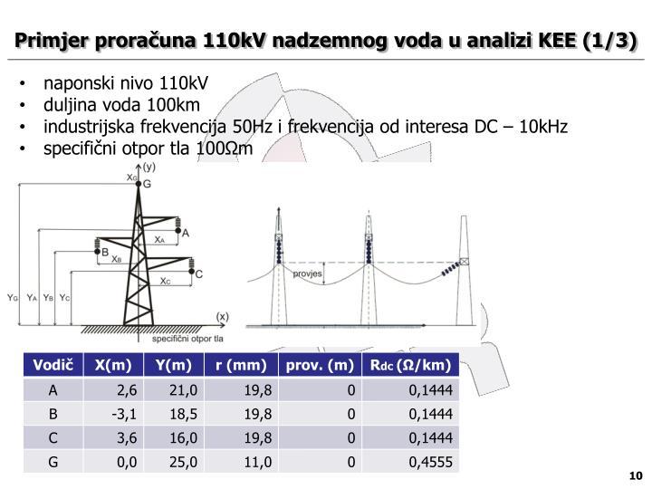Primjer proračuna 110kV