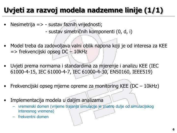 Uvjeti za razvoj modela nadzemne