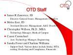 otd staff
