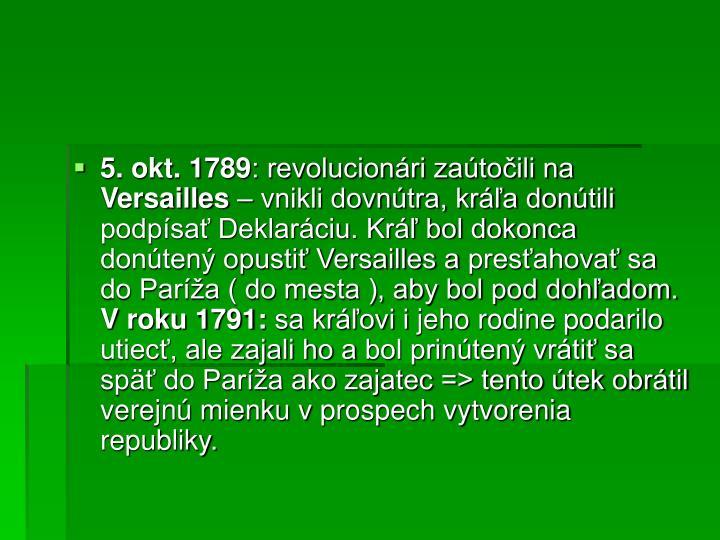 5. okt. 1789