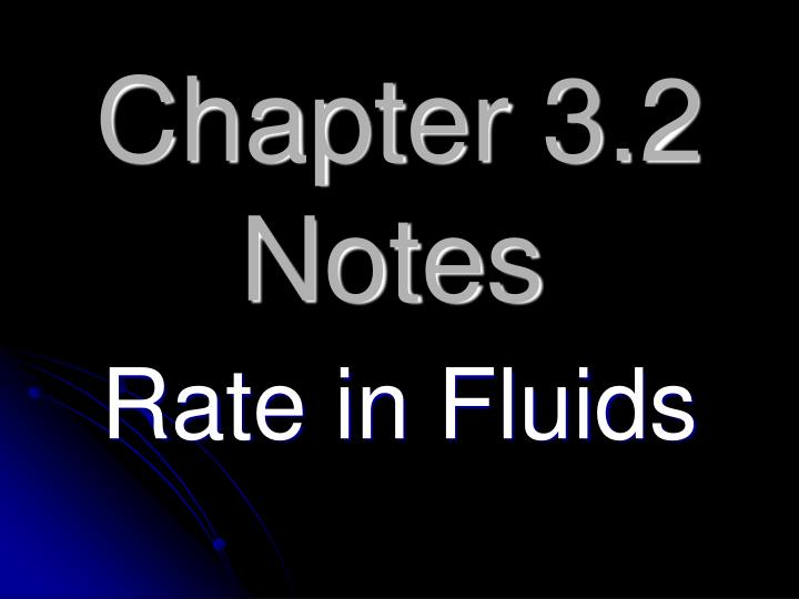Chapter 3.2 Notes