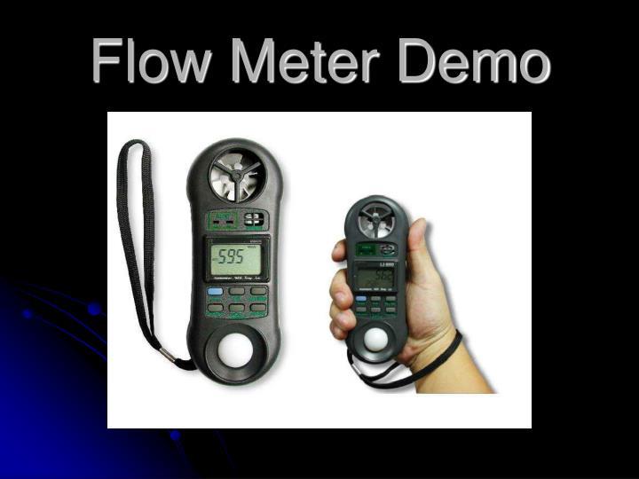 Flow Meter Demo