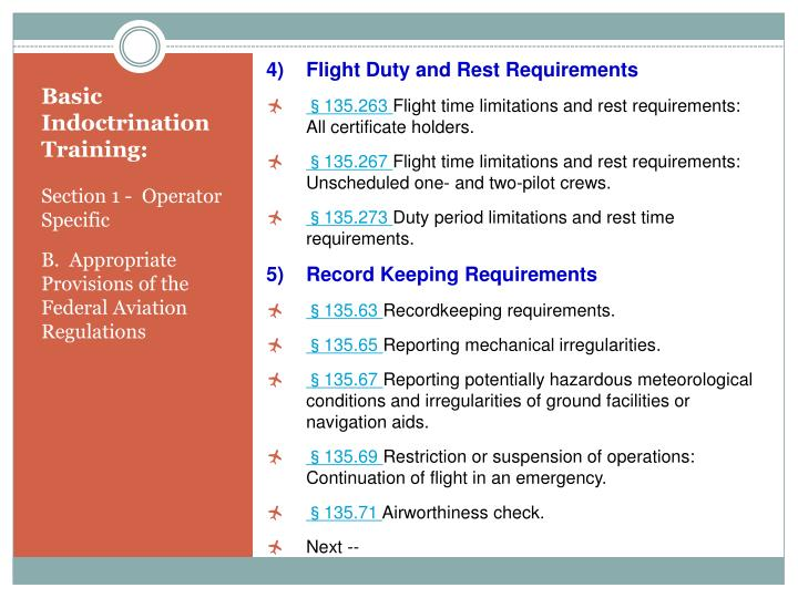 Flight Duty and Rest Requirements