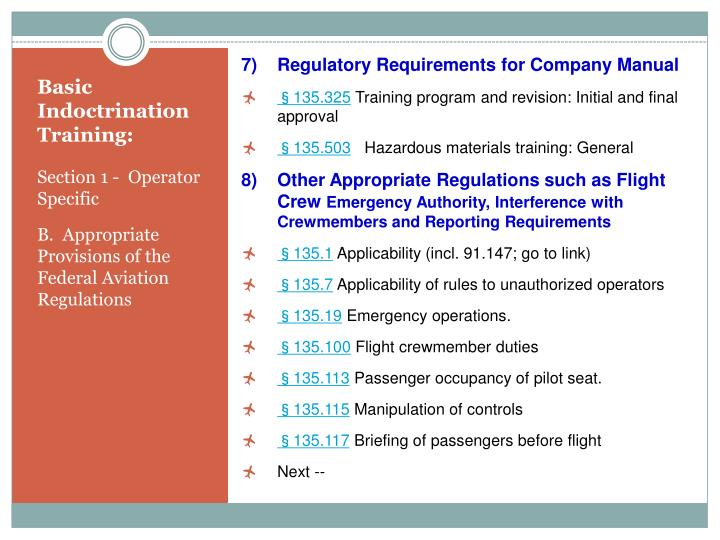 Regulatory Requirements for Company Manual