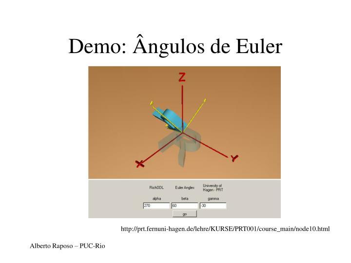 Demo: Ângulos de Euler