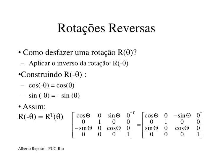 Rotações Reversas