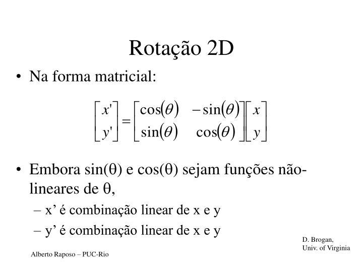 Rotação 2D