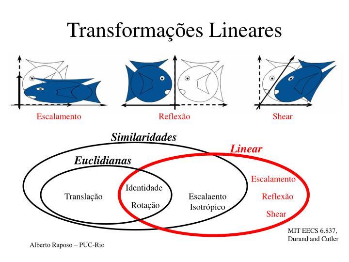 Transformações Lineares