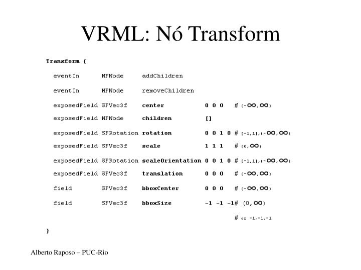 VRML: Nó Transform