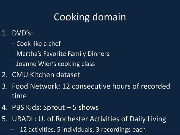 Cooking domain