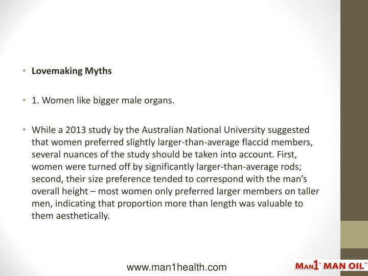 Lovemaking Myths