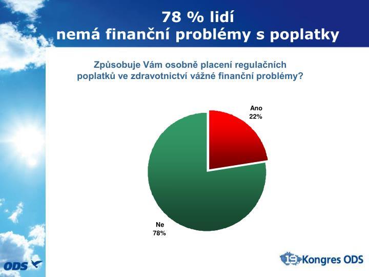 78 % lidí
