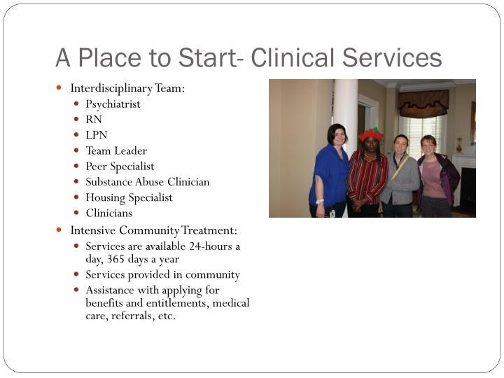 A Place to Start- Clinical Services