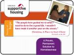 a proven permanent solution to homelessness1