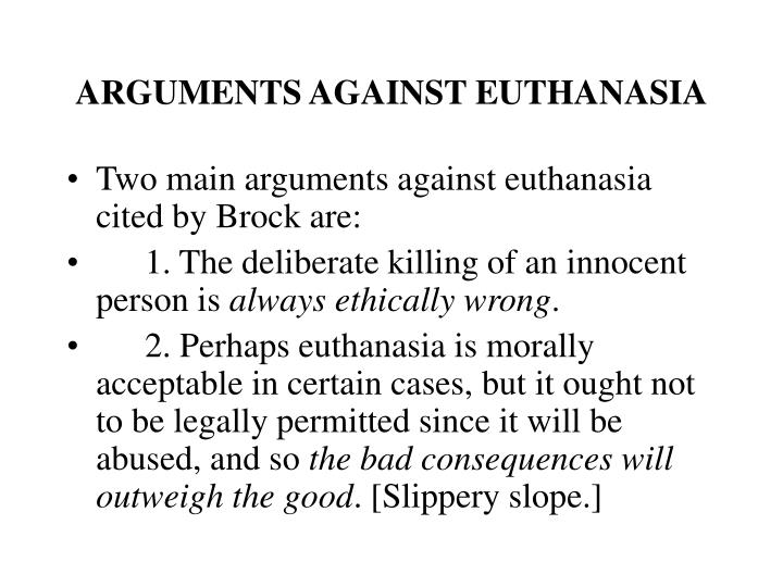 Essays against euthanasia