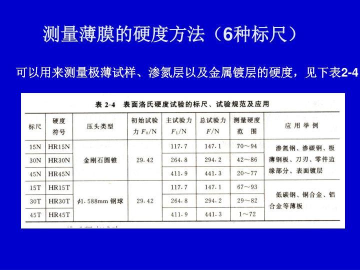 测量薄膜的硬度方法(