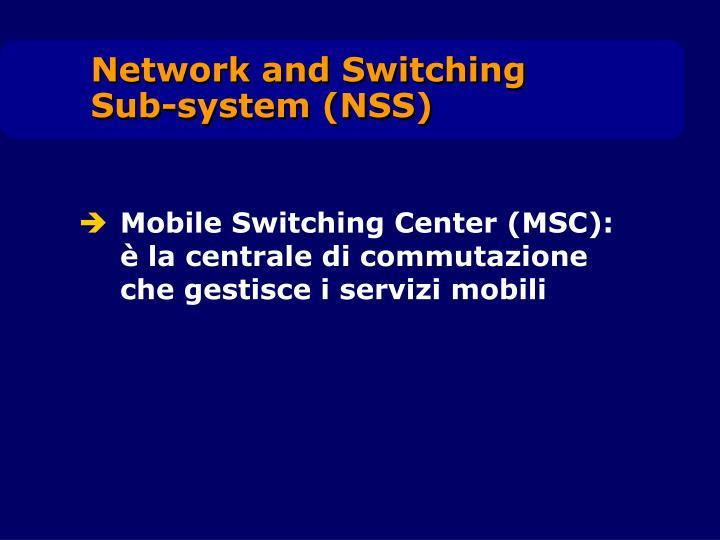 Mobile Switching Center (MSC): è la centrale di commutazione che gestisce i servizi mobili