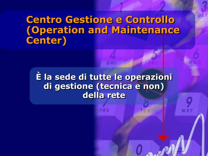 Centro Gestione e Controllo (Operation and Maintenance Center)