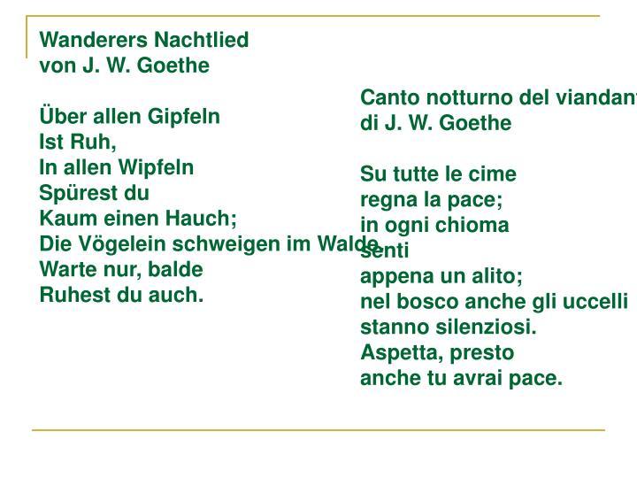 Wanderers Nachtlied