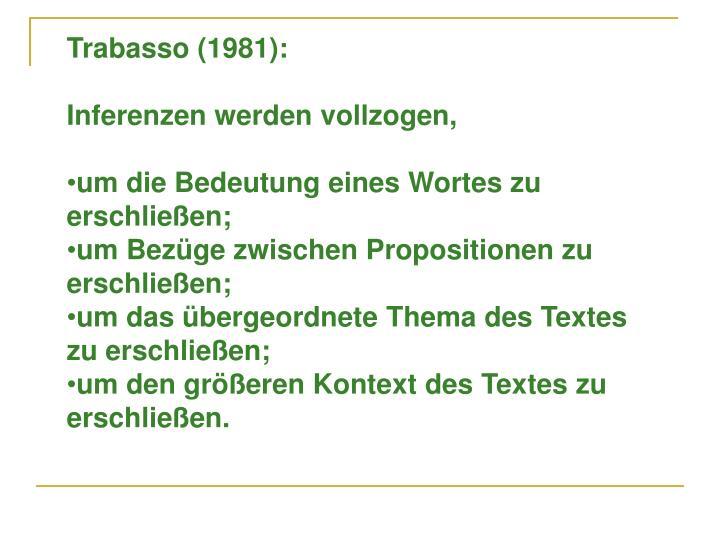 Trabasso (1981):